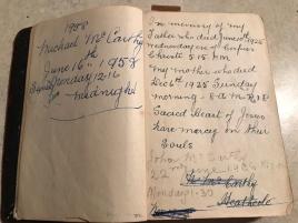 Inside Aunty Nells Prayer book